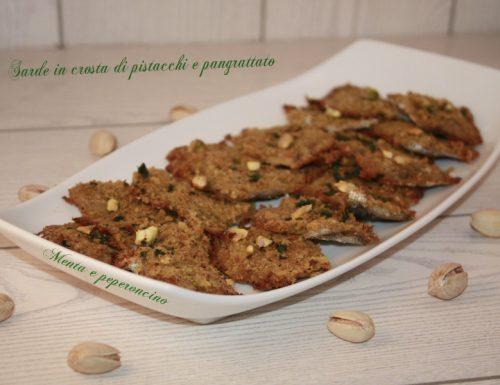 Sarde in crosta di pistacchi e pangrattato