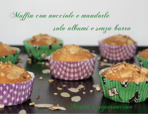 Muffin con nocciole e mandorle solo albumi e senza burro