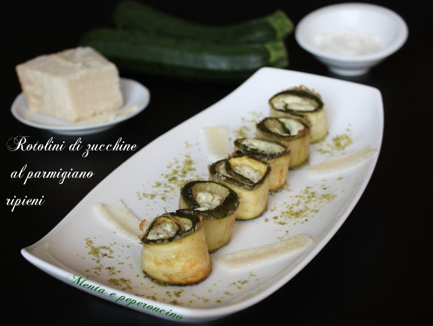 Rotoloni di zucchine al parmigiano ripieni