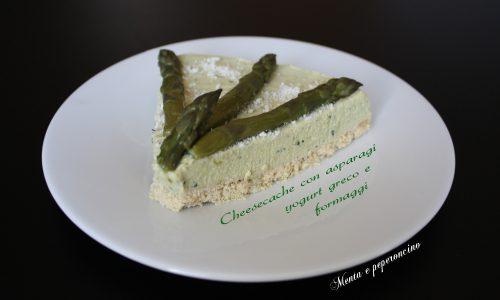 Cheesecake con asparagi yogurt greco e formaggi