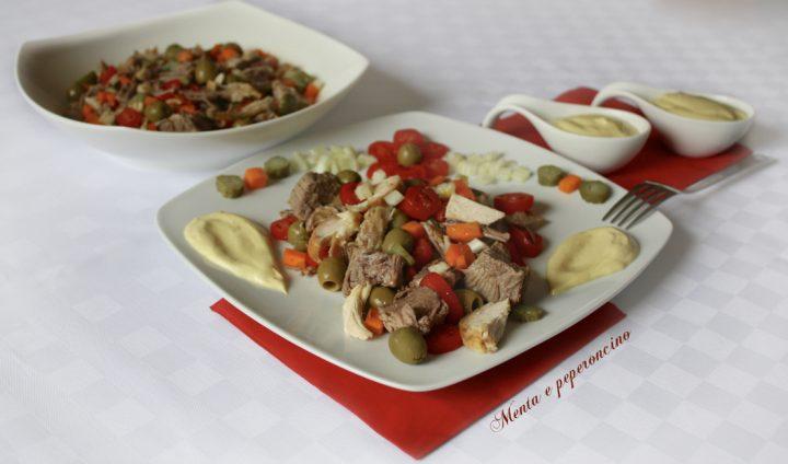 Insalata con carne da brodo