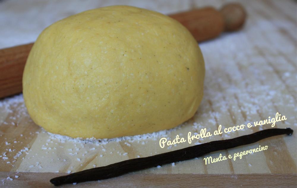 Pasta frolla al cocco e vaniglia