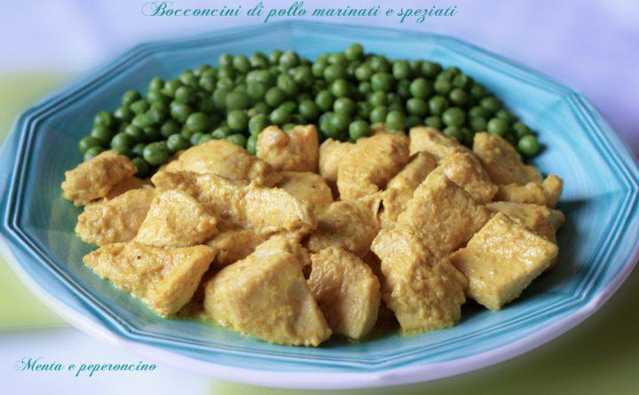 Bocconcini di pollo marinati e speziati