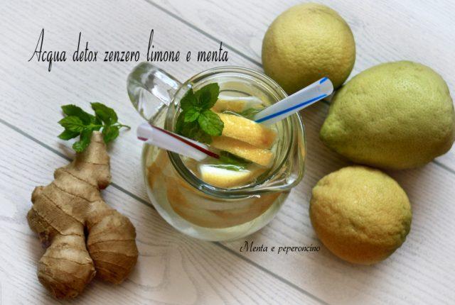 Acqua detox zenzero limone e menta