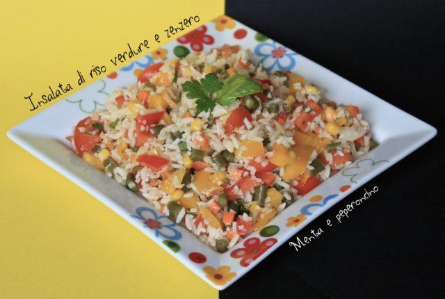 Insalata di riso con verdure e zenzero