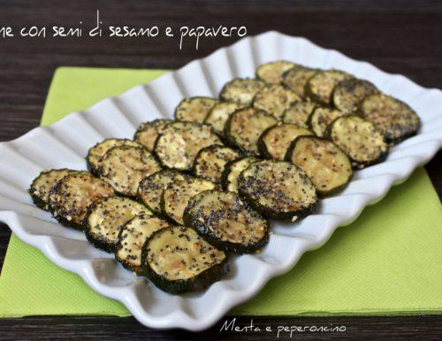 Zucchine con semi di sesamo e papavero