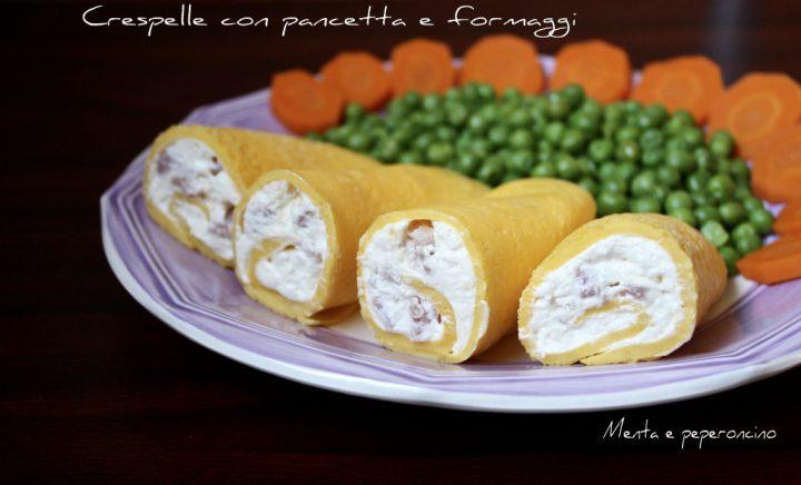 Crespelle con pancetta e formaggi