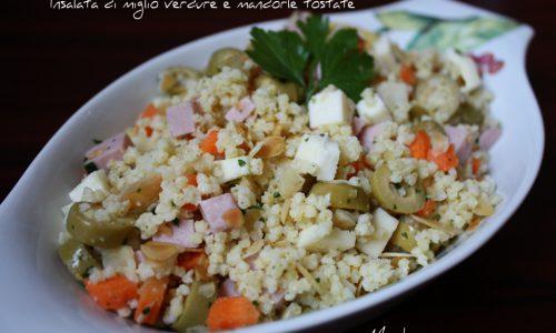 Insalata di miglio verdure e mandorle tostate