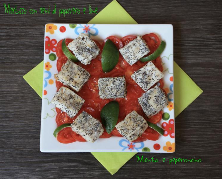Merluzzo con semi di papavero e lime