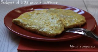Scaloppine al latte panna e zafferano