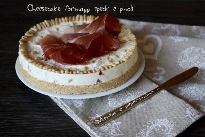 Cheesecake formaggi speck e pinoli