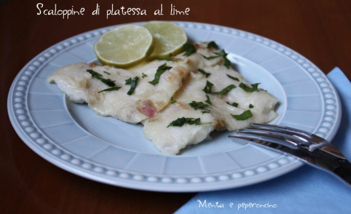 Scaloppine di platessa al lime
