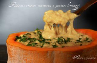 Risotto cremoso alla zucca e quattro formaggi