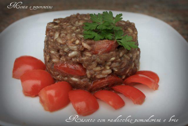 Risotto con radicchio pomodorini e brie