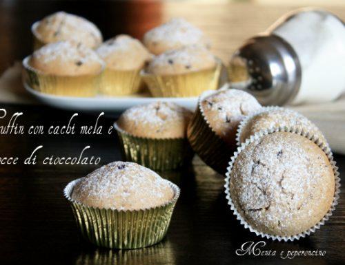 Muffin con cachi mela e gocce di cioccolato