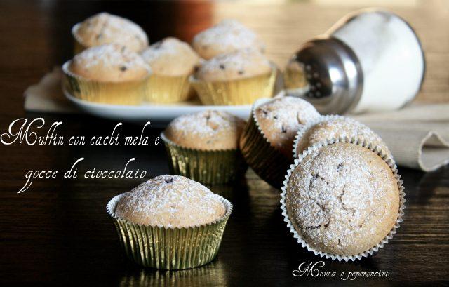 Muffin con cachi mela e gocce doicioccolato