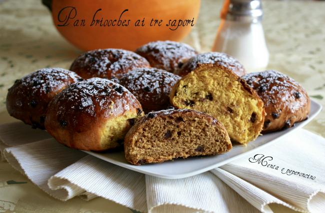 Pan brioches ai tre sapori