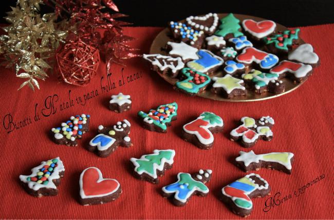Biscotti di Natale in pasta frolla al cacao