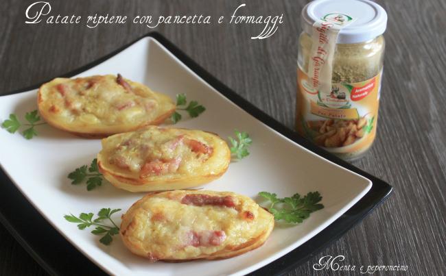 Patate farcite con pancetta e formaggi