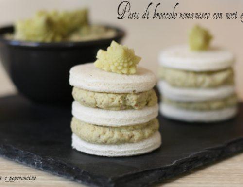 Pesto di broccolo romanesco con noci e pistacchi