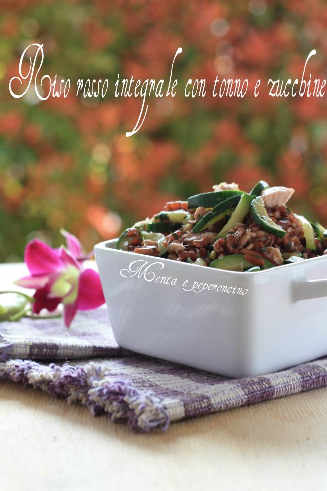 Riso rosso integrale con tonno e zucchine