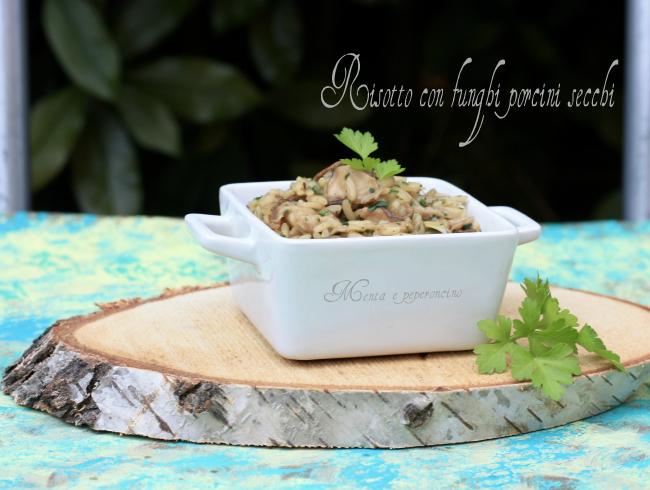 Risotto con funghi porcini secchi
