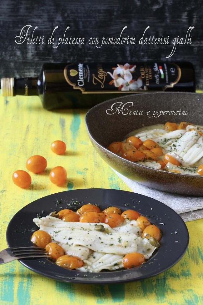 Filetti di platessa con pomodorini datteri gialli