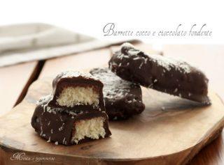 Barrette cocco e cioccolato fondente