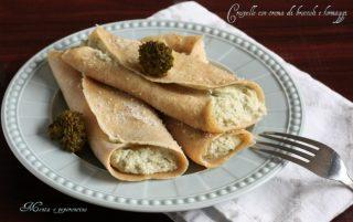 Crespelle con crema di broccoli e formaggi