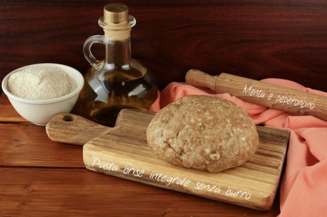 Pasta brisè integrale senza burro
