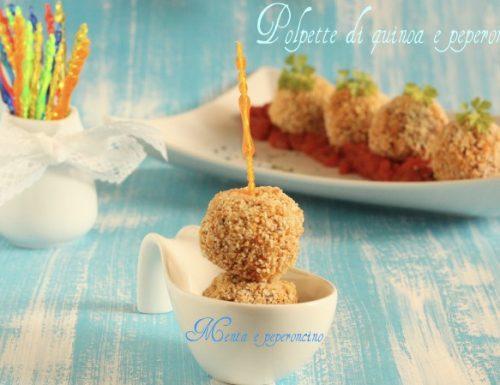 Polpette di quinoa e peperoni