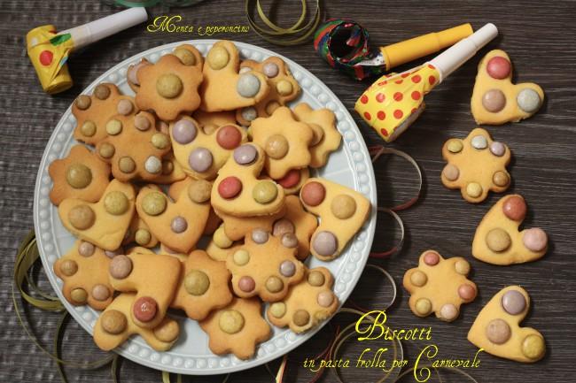 Biscotti in pasta frolla per Carnevale