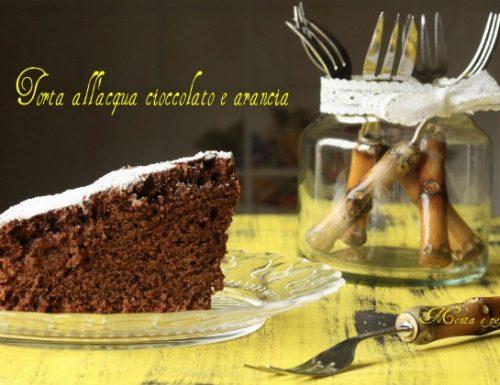 Torta all'acqua cioccolato e arancia