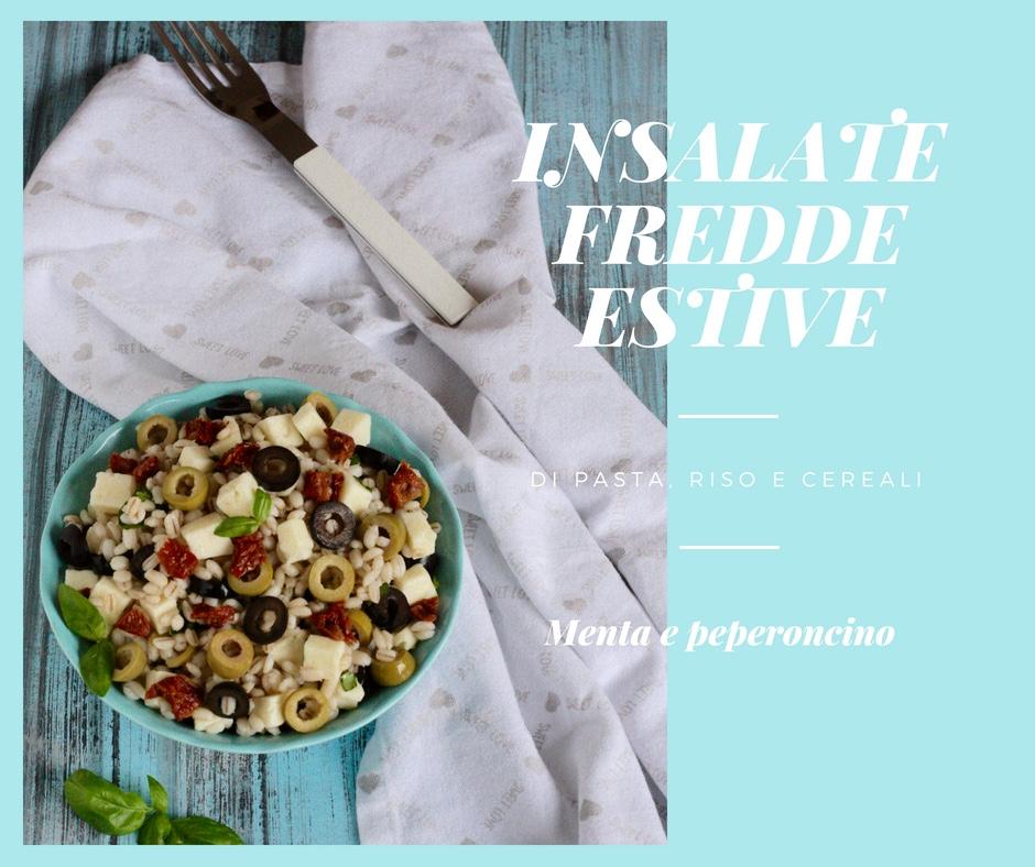 Insalate fredde estive di pasta, riso e cereali