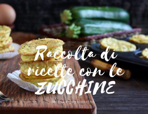 Raccolta di ricette con le zucchine