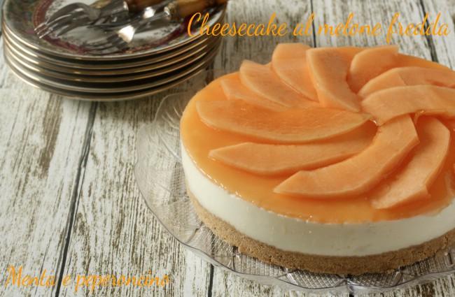 Cheesecake al melone fredda