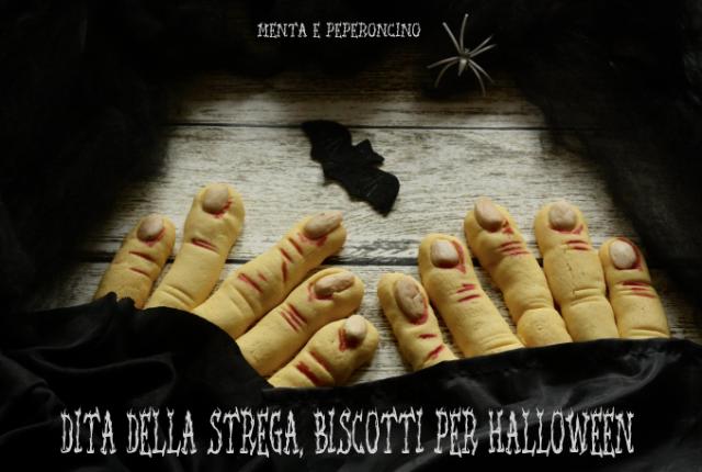 Dita della strega, biscotti per Halloween
