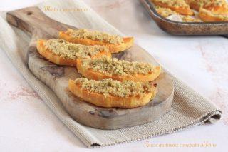 Zucca gratinata e speziata al forno