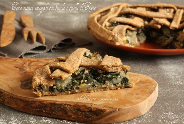 Torta rustica integrale con bietola e cipolle di Tropea