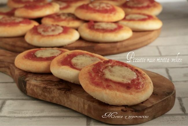 Pizzette rosse ricette veloce