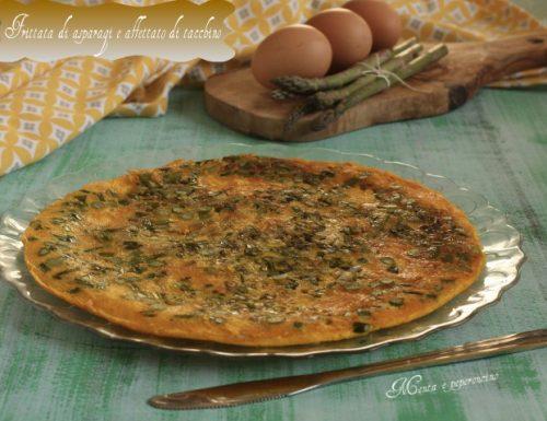 Frittata di asparagi e affettato di tacchino