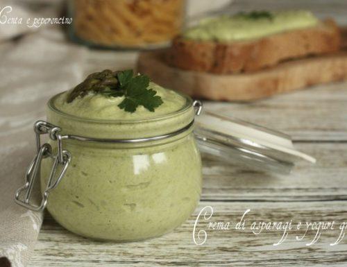 Crema di asparagi e yogurt greco