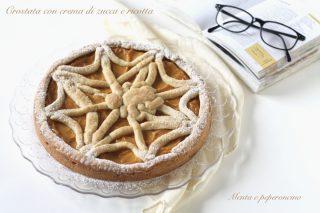 Crostata con crema di zucca e ricotta