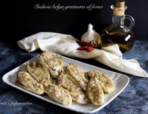 Indivia belga gratinata al forno