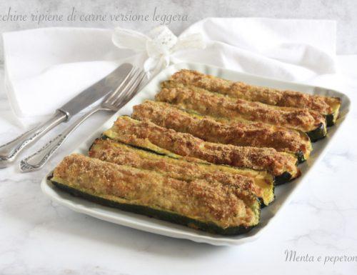 Zucchine ripiene di carne – versione leggera