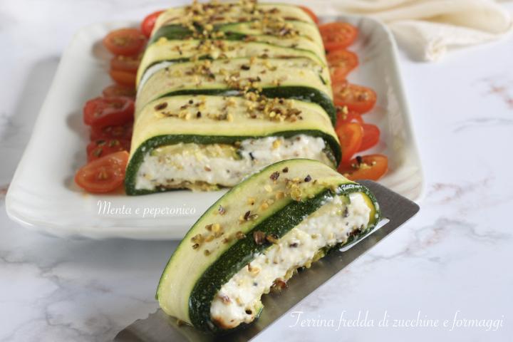 Terrina fredda di zucchine e formaggi