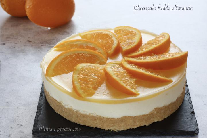 Cheesecake fredda all'arancia