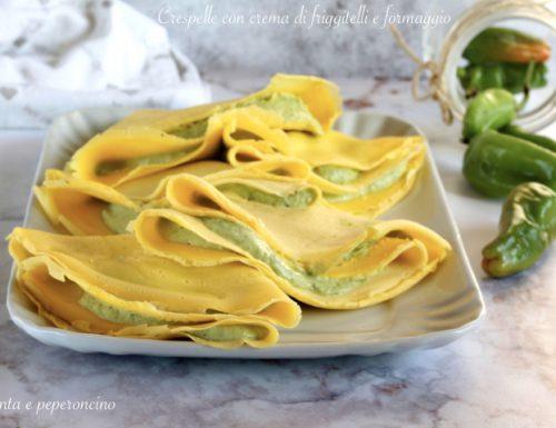 Crespelle con crema di friggitelli e formaggio