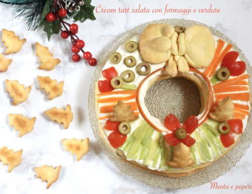 Cream tart salata con formaggi e verdure