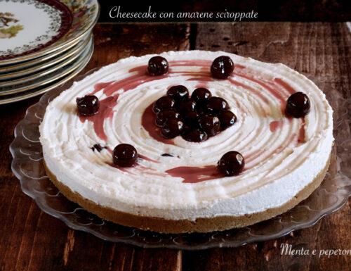 Cheesecake con amarene sciroppate